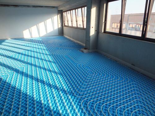 Impianto radiante uffici con pannello bugnato - 2