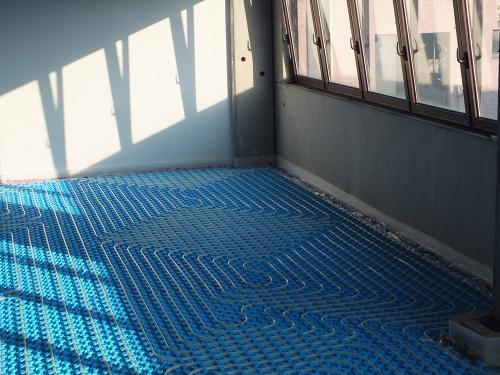 Impianto radiante uffici con pannello bugnato - 3