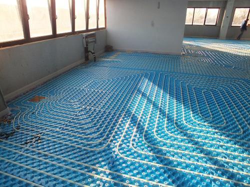 Impianto radiante uffici con pannello bugnato - 7