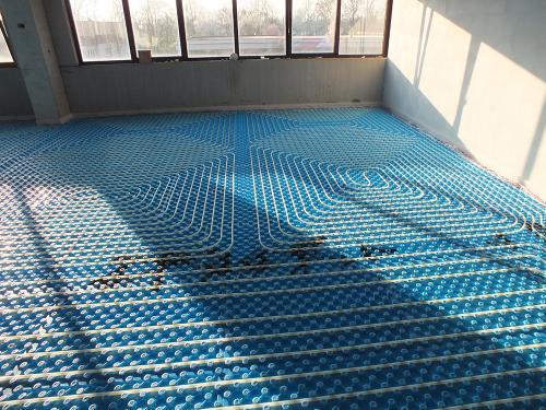 Impianto radiante uffici con pannello bugnato - 4