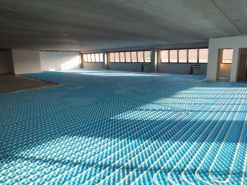 Impianto radiante uffici con pannello bugnato - 9