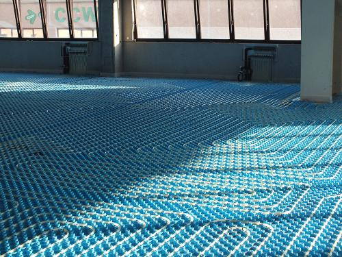 Impianto radiante uffici con pannello bugnato - 8