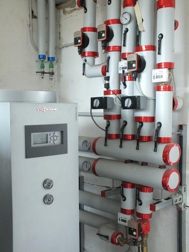 Centrale termica per riscaldamento e produzione ACS con caldaia a pellet e solare termico per laboratorio artigianale con abitazione annessa - 4