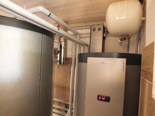 Riqualificazione impianti in Villa bifamiliare con impianto di riscaldamento e produzione di ACS con caldaia a legna, solare termico e pompa di calore - 13
