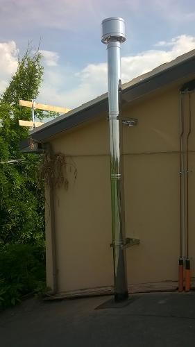 Centrale termica per riscaldamento e produzione ACS con caldaia a pellet e solare termico per laboratorio artigianale con abitazione annessa - 8